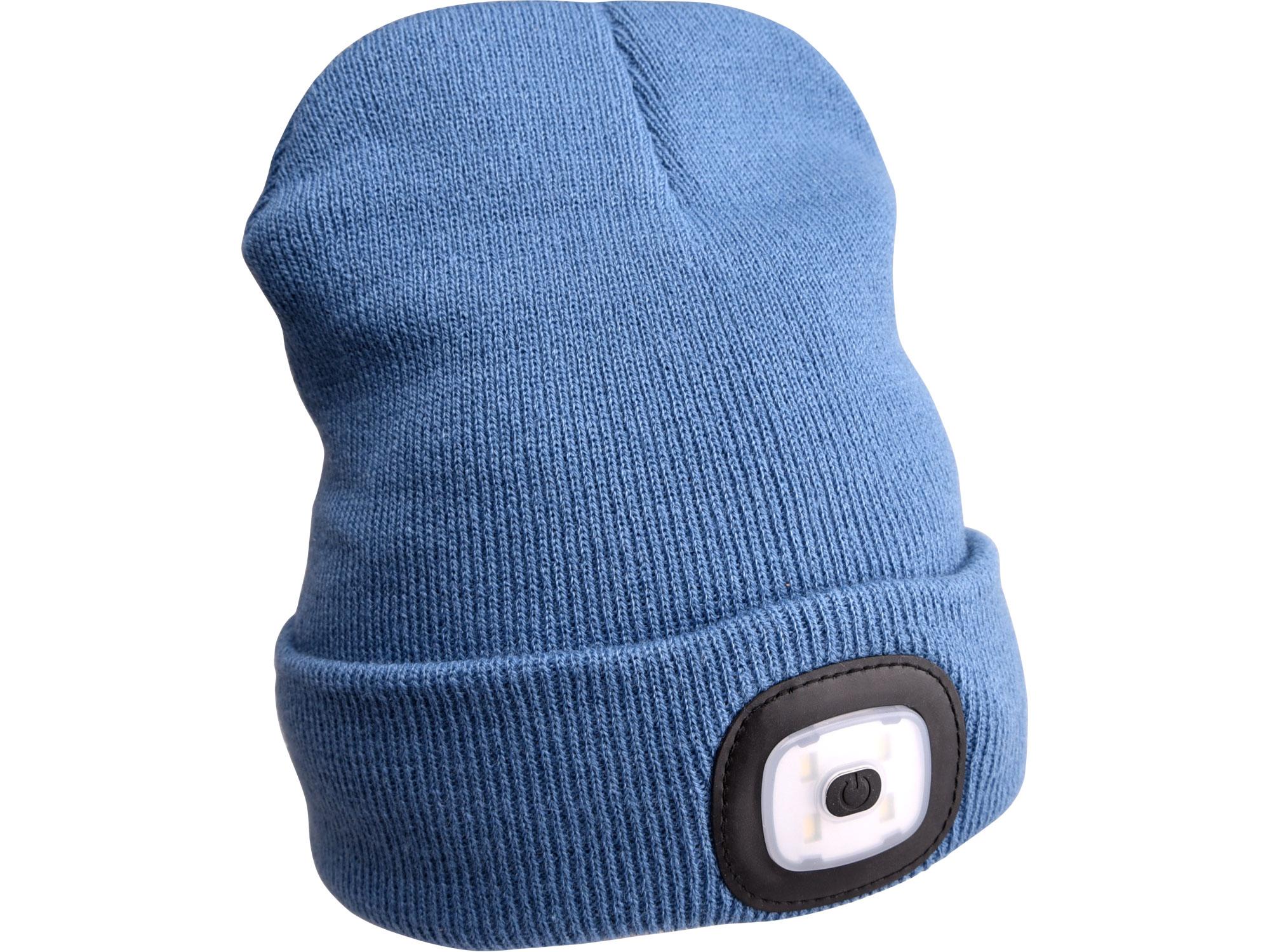 Čepice s čelovkou 4x45lm, nabíjecí, USB, modrá, uni EXTOL LIGHT 43191