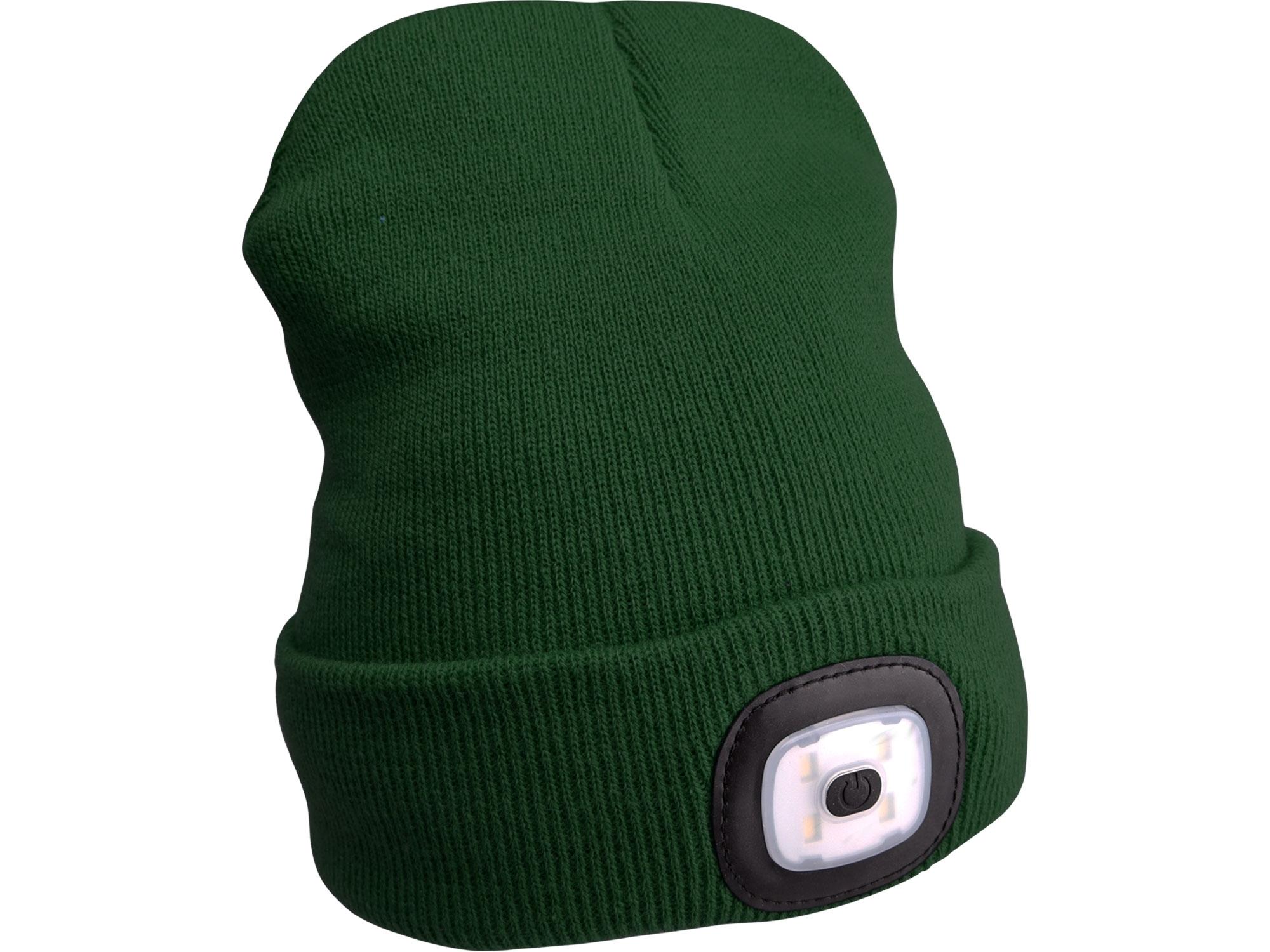Čepice s čelovkou, nabíjecí, USB, zelená, univerzální velikost EXTOL LIGHT 43192