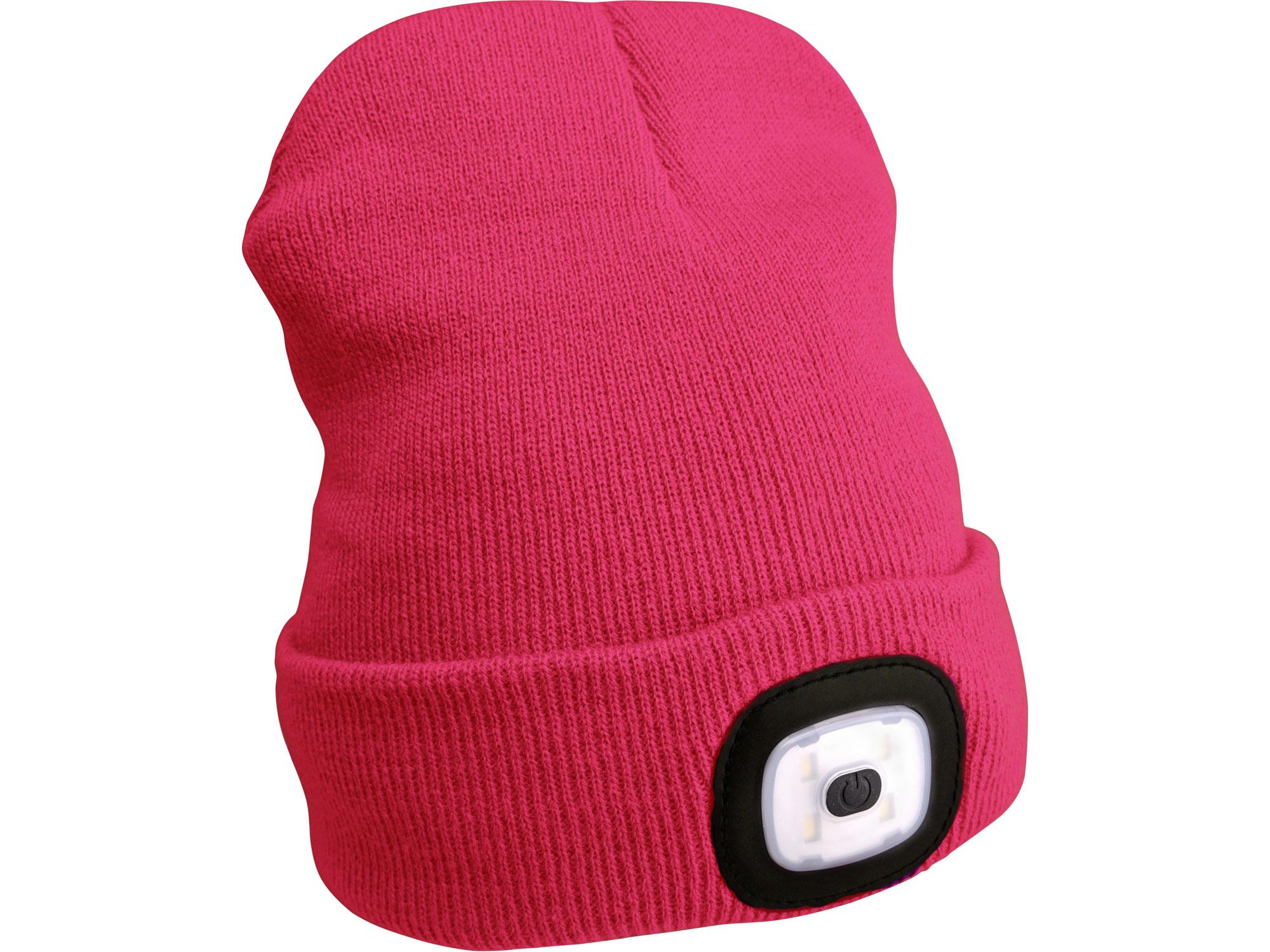 Čepice s čelovkou, nabíjecí, USB, růžová, univerzální velikost EXTOL LIGHT 43193