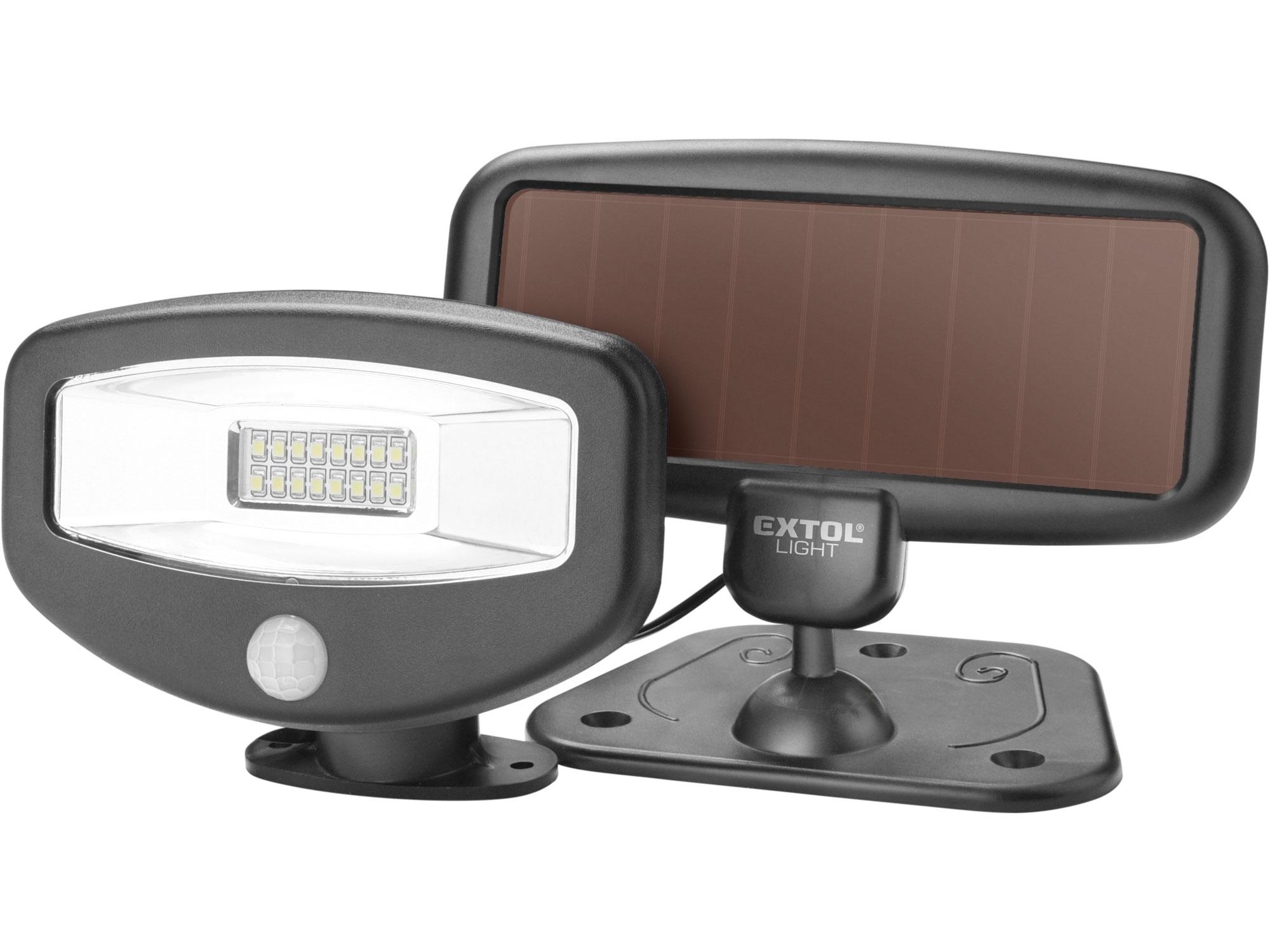 Reflektor LED s pohybovým čidlem, 100lm, solární nabíjení EXTOL LIGHT 43270