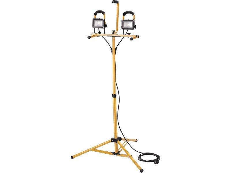 Reflektor LED 2x 800lm se stojanem 125cm EXTOL 43281