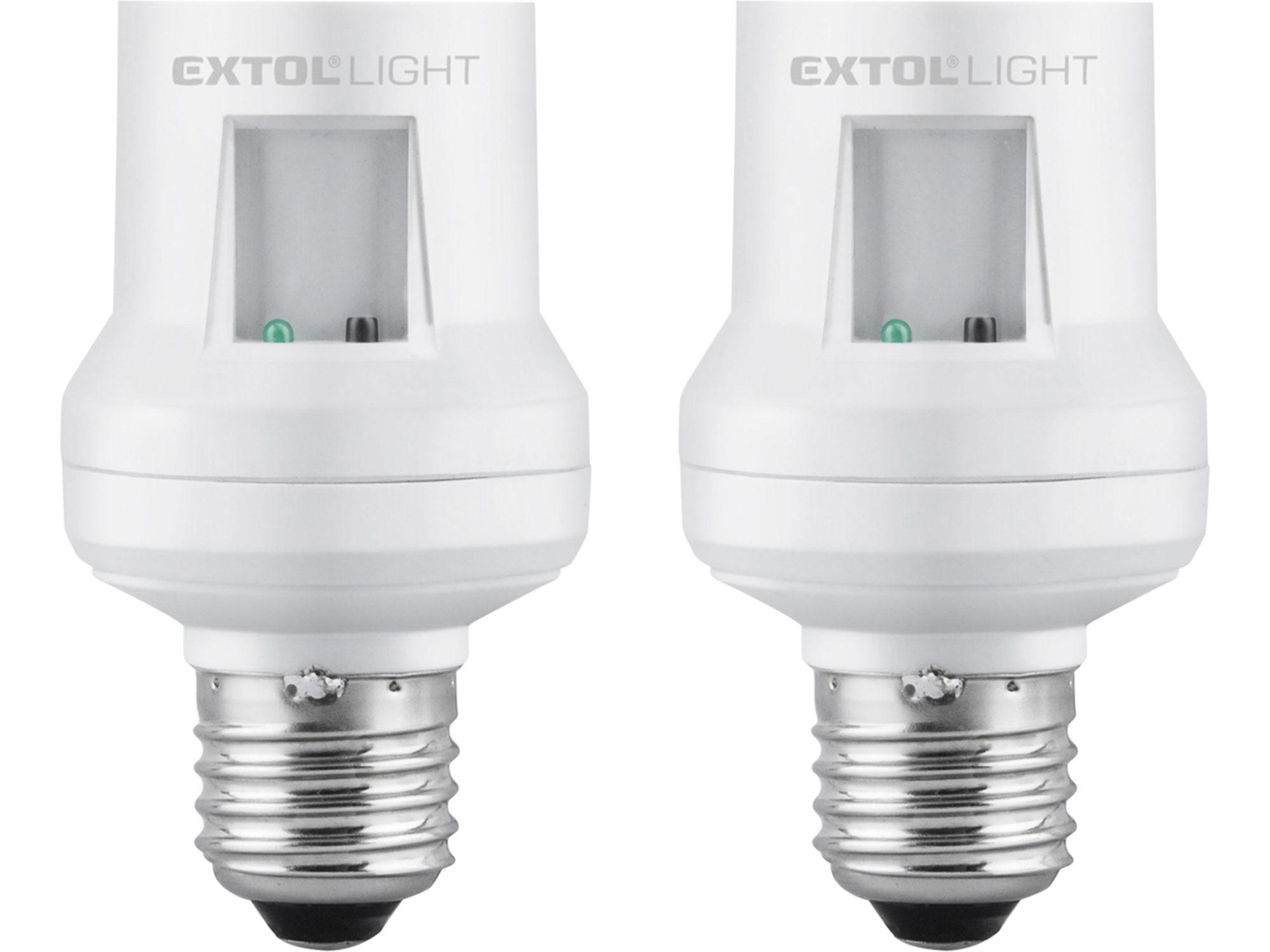 Objímka na žárovku dálkově ovládaná, 2ks, max. 60W žárovka, E27, dosah EXTOL 43810