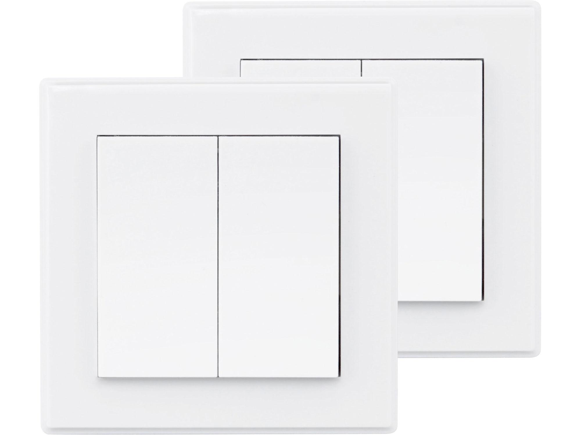 Vypínač/ovladač, dvojitý, 2ks, 2 jednotlivé/skupinové kanály EXTOL LIGHT 43822