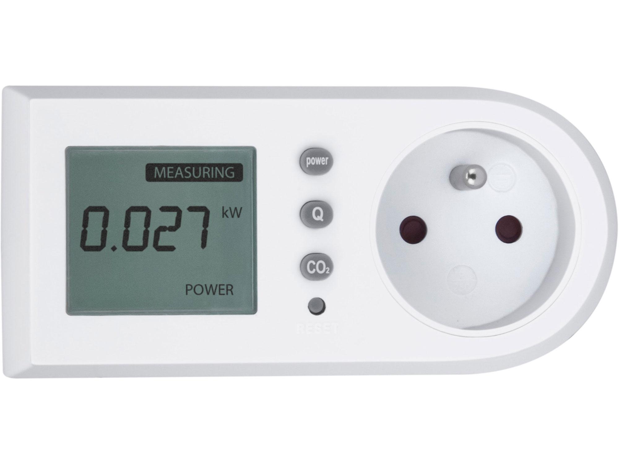 Měřič spotřeby el. energie - wattmetr, kW, kWh, CO2 EXTOL LIGHT 43900