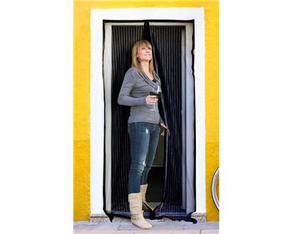 BRILANZ Síť na dveře proti hmyzu - černá 100x210 cm