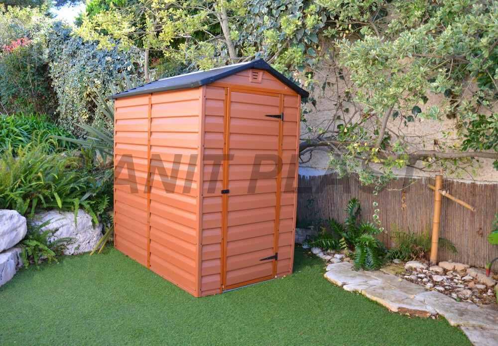Zahradní domek plastový SkyLight II 4x6 hnědý