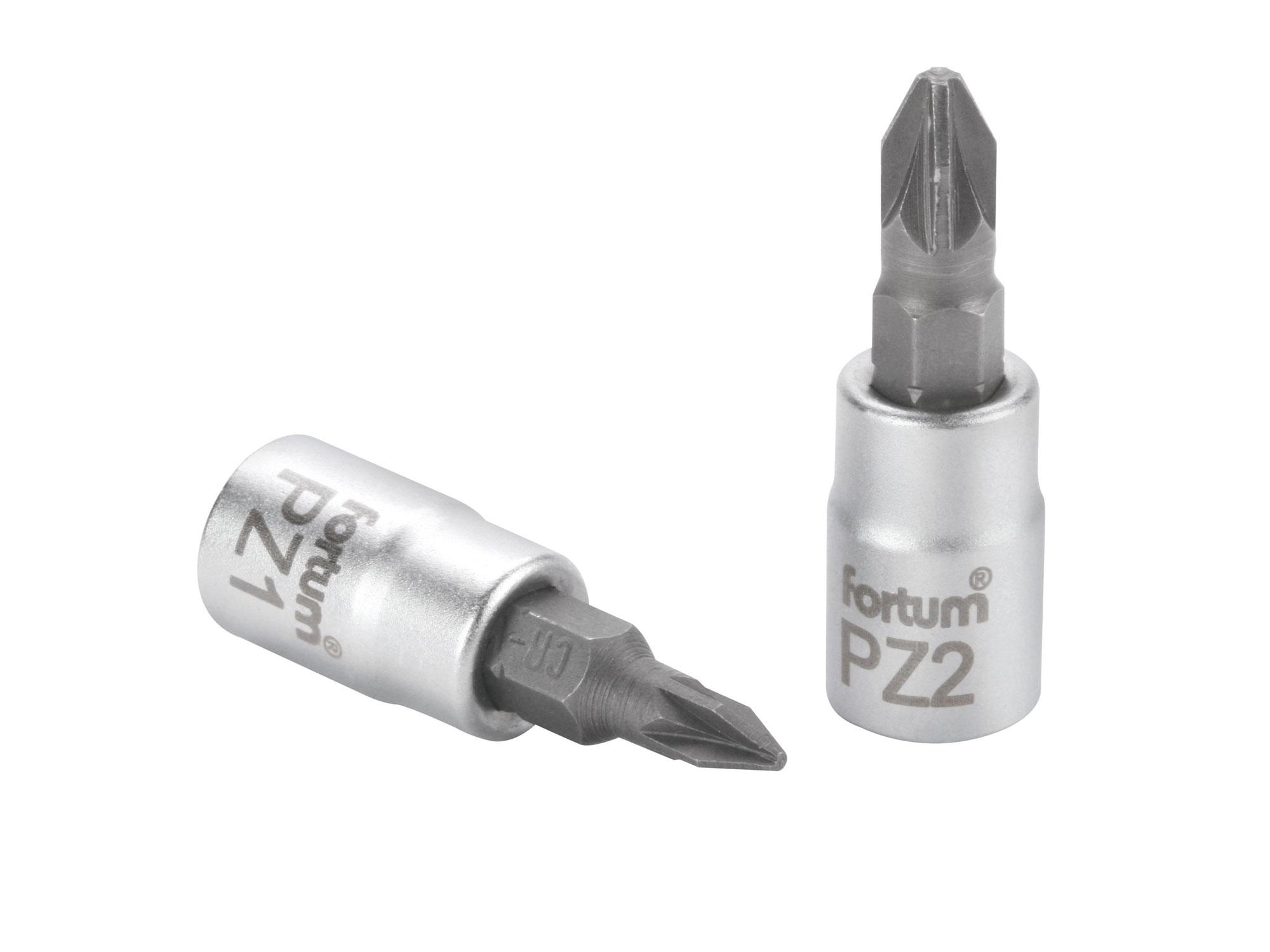 """Hlavice zástrčná 1/4"""" hrot pozidriv, PZ 1, L 37mm FORTUM 4701821"""