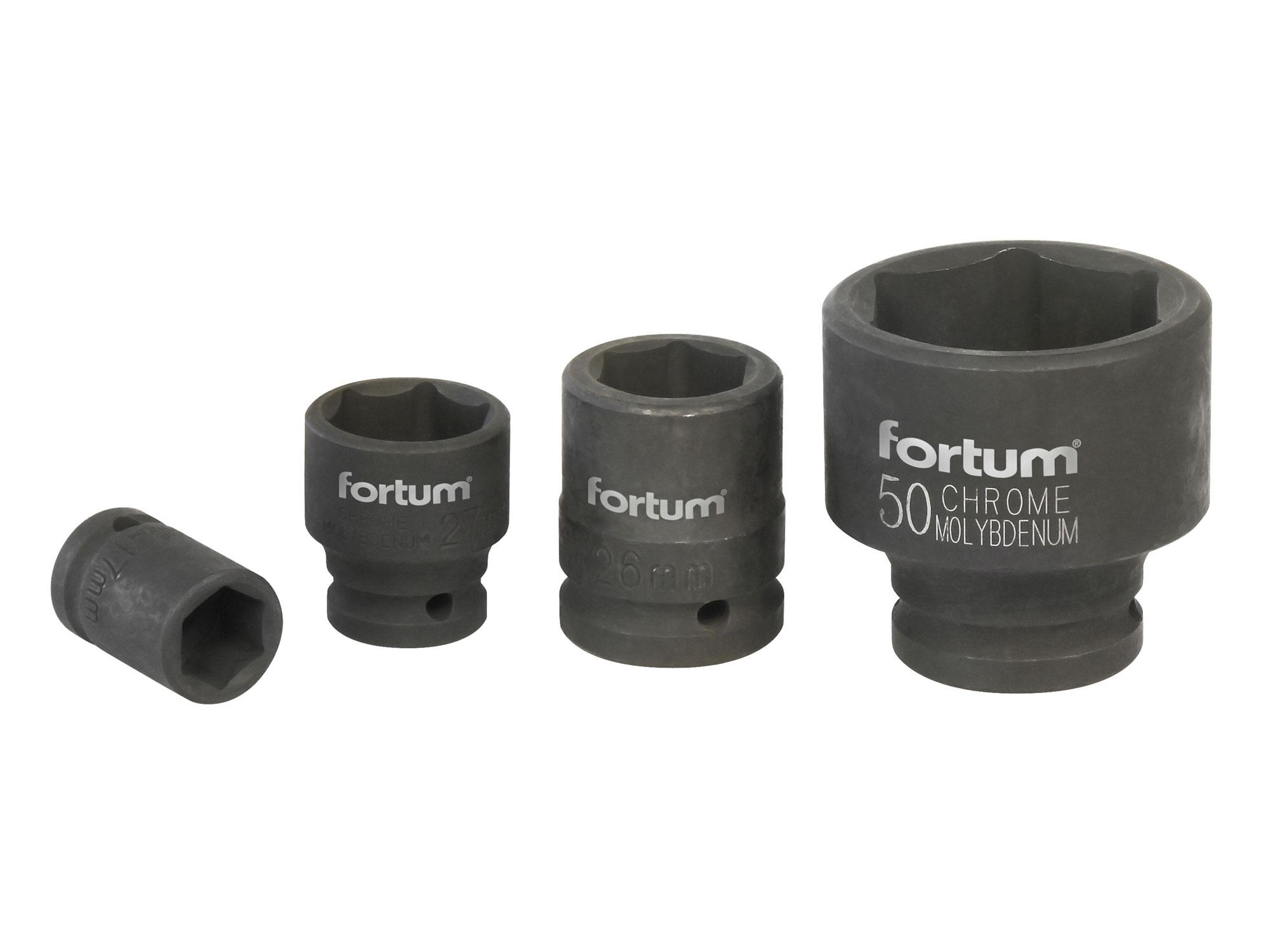 """Hlavice nástrčná rázová 3/4"""", 27mm, L 52mm FORTUM 4703027"""