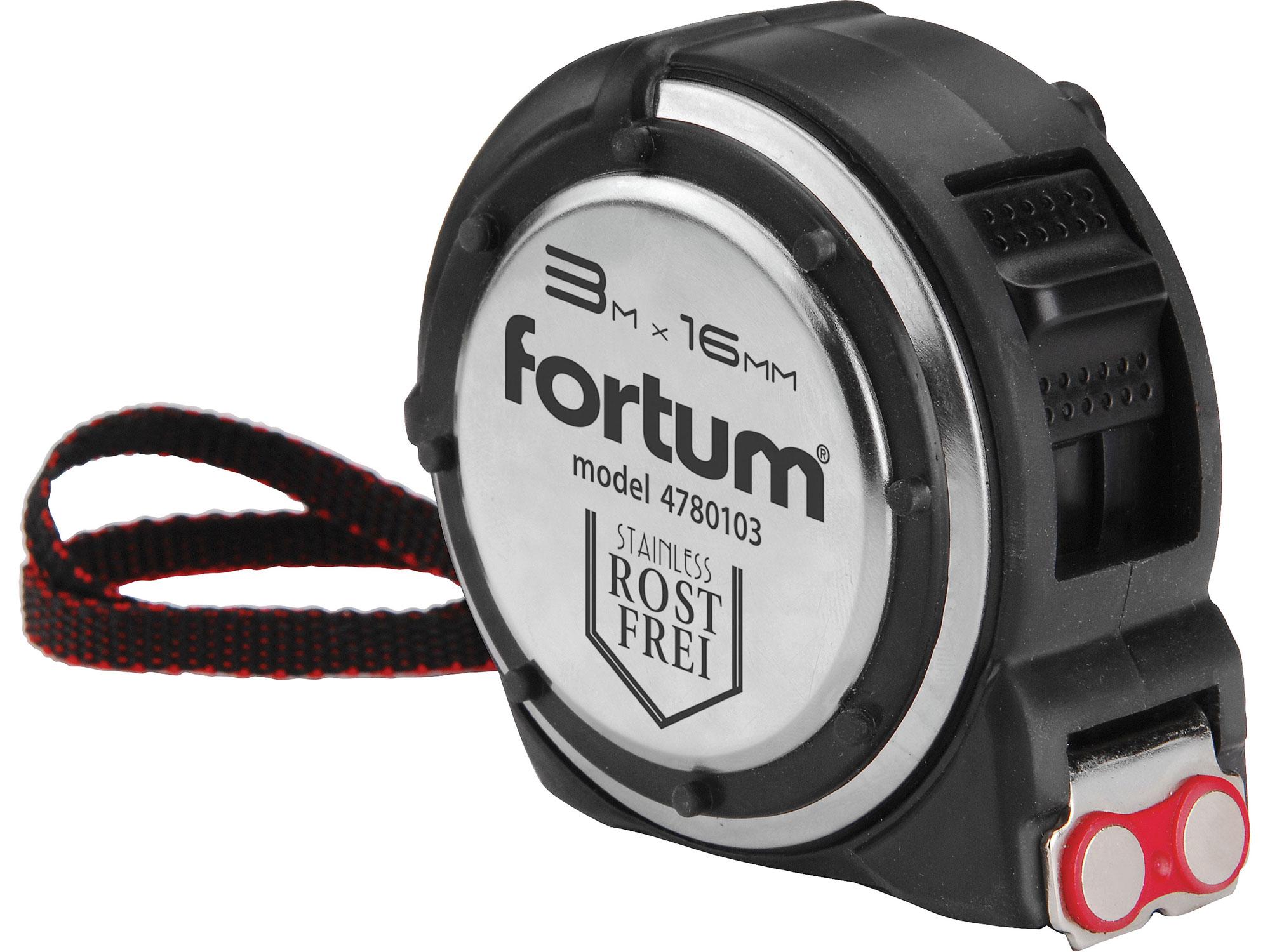 Metr svinovací NEREZ, 3m, š. pásky 16mm FORTUM 4780103