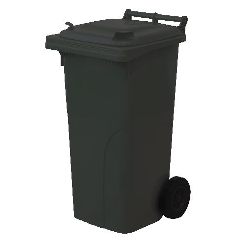 Popelnice plastová 120l černá MEVA