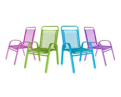 Dětská zahradní židle stohovatelná Happy Green