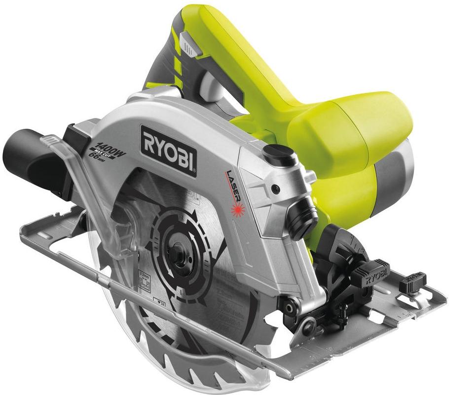Ruční okružní pila 1400 W s laserem Ryobi RWS 1400-K