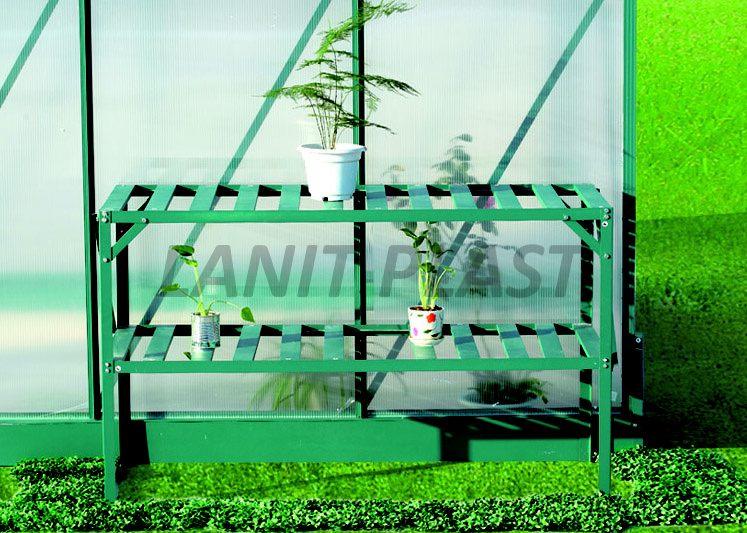 Regál Al jednopolicový zelený (126x50cm) LanitGarden