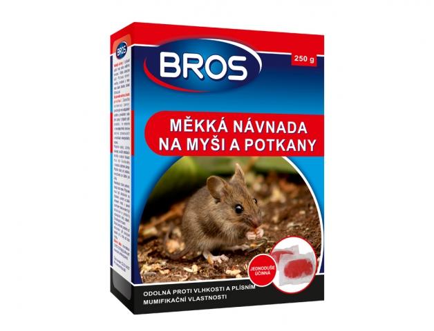 Rodenticid BROS měkká návnada na myši, krysy a potkany 250g