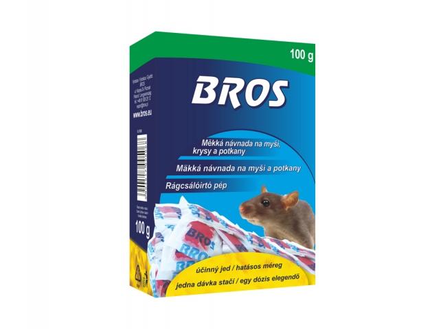 Rodenticid BROS měkká návnada na myši, krysy a potkany 100g