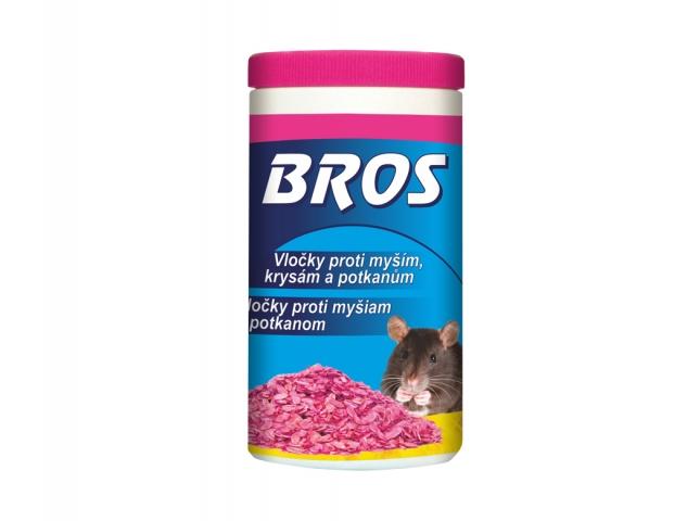 Rodenticid BROS obilné vločky na myši,krysy a potkany 25x10g