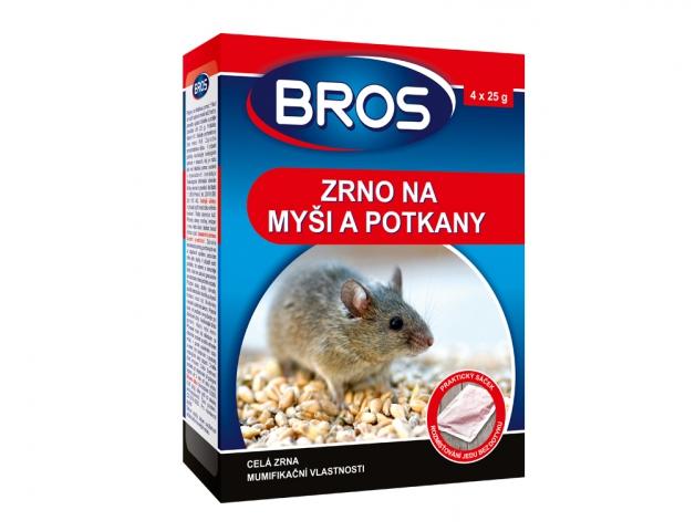 Rodenticid BROS zrno na myši, krysy a potkany 4x25g