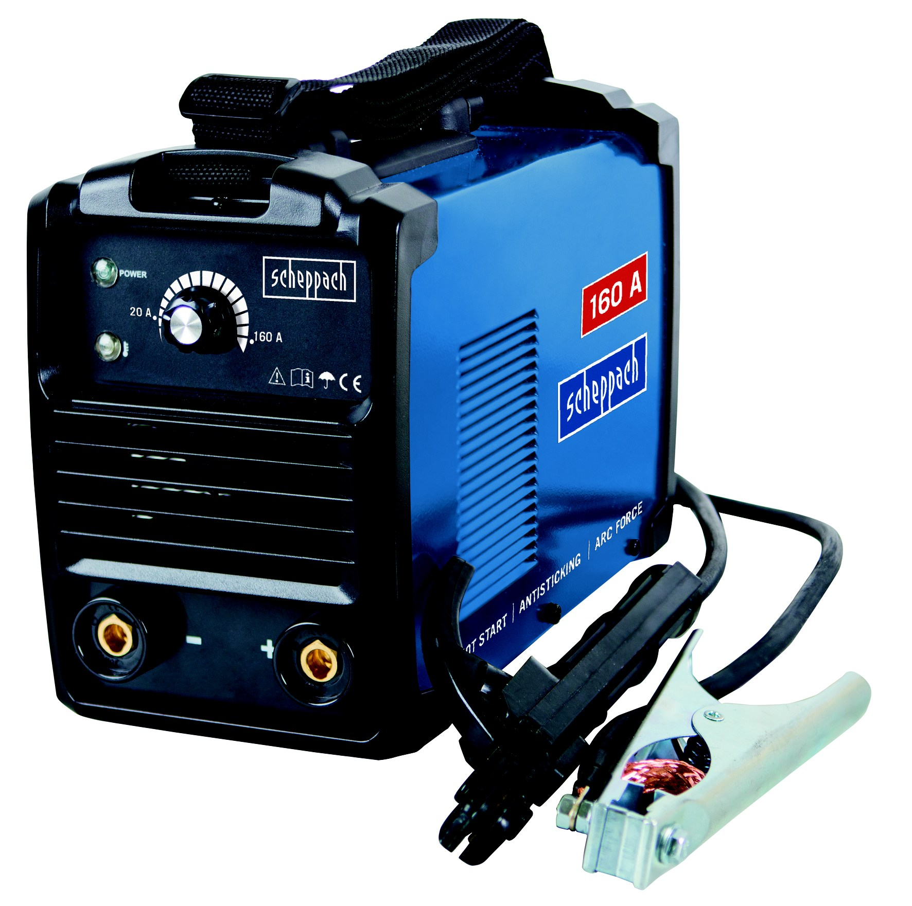 Svářecí invertor 160 A s příslušenstvím Scheppach WSE900