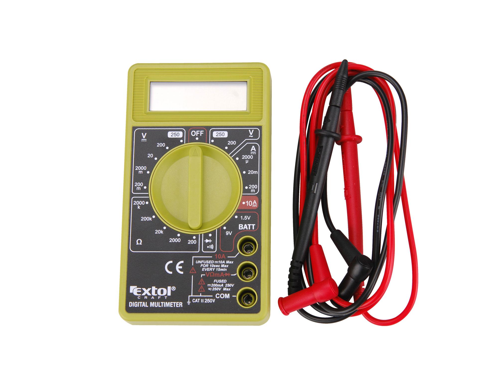 Multimetr digitální (U, I, R) EXTOL CRAFT 600011