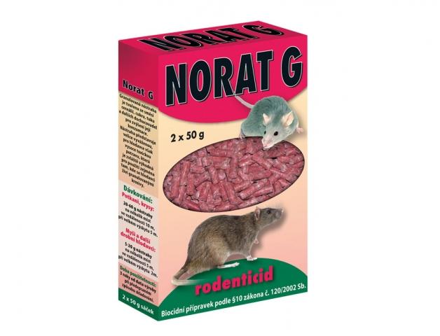 Rodenticid NORAT G granule na hlodavce 2x50g
