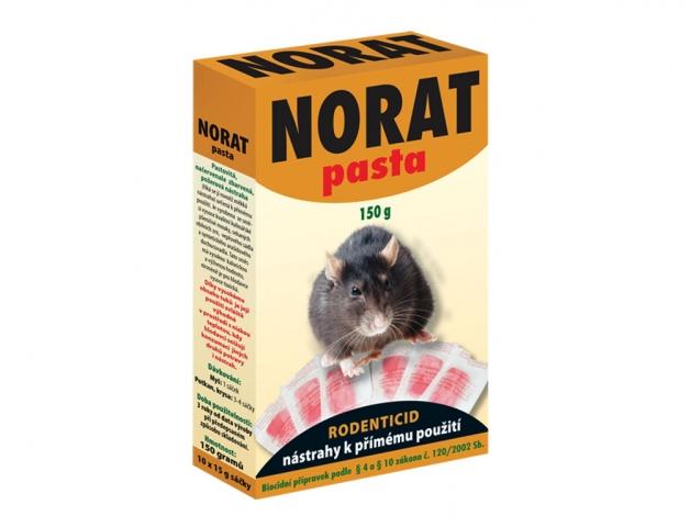 Rodenticid NORAT pasta na hlodavce 10x15g