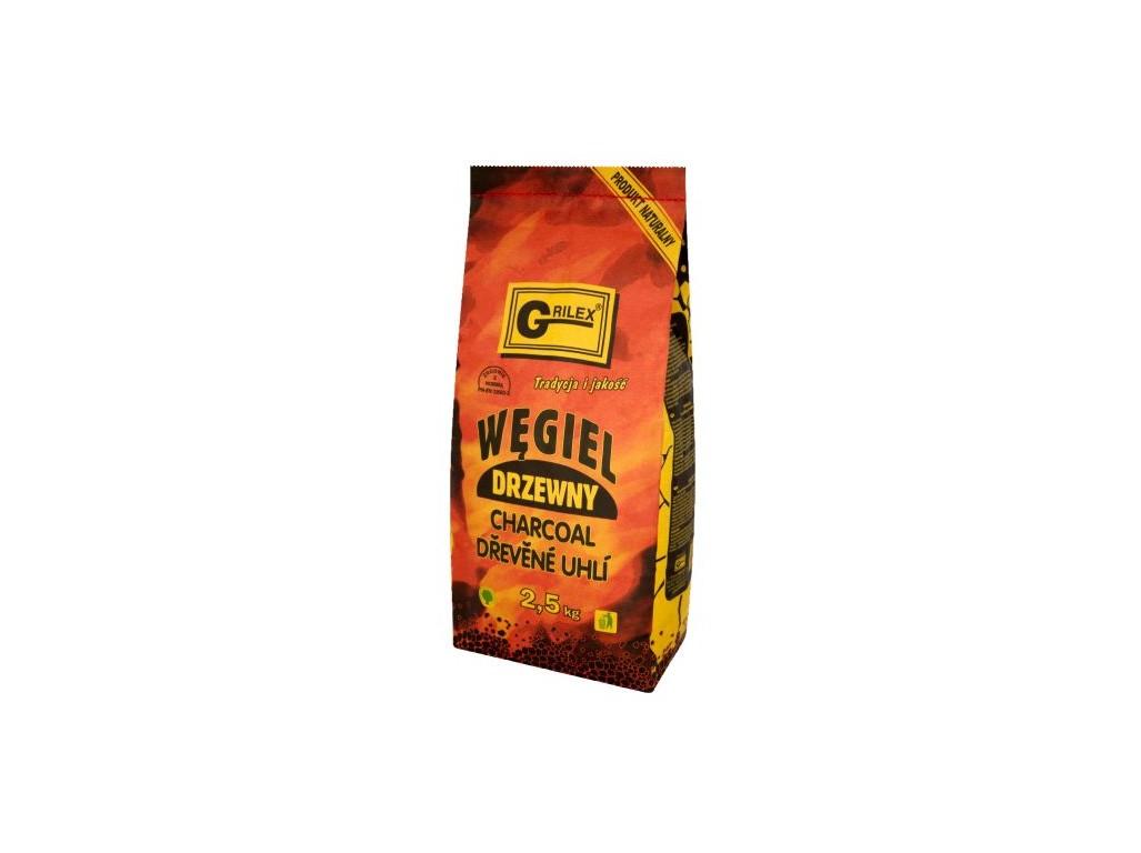 Uhlí dřevěné na gril 2,5 kg
