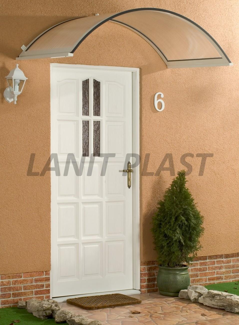 Vchodová stříška ONYX 160/90 bílá LANITPLAST