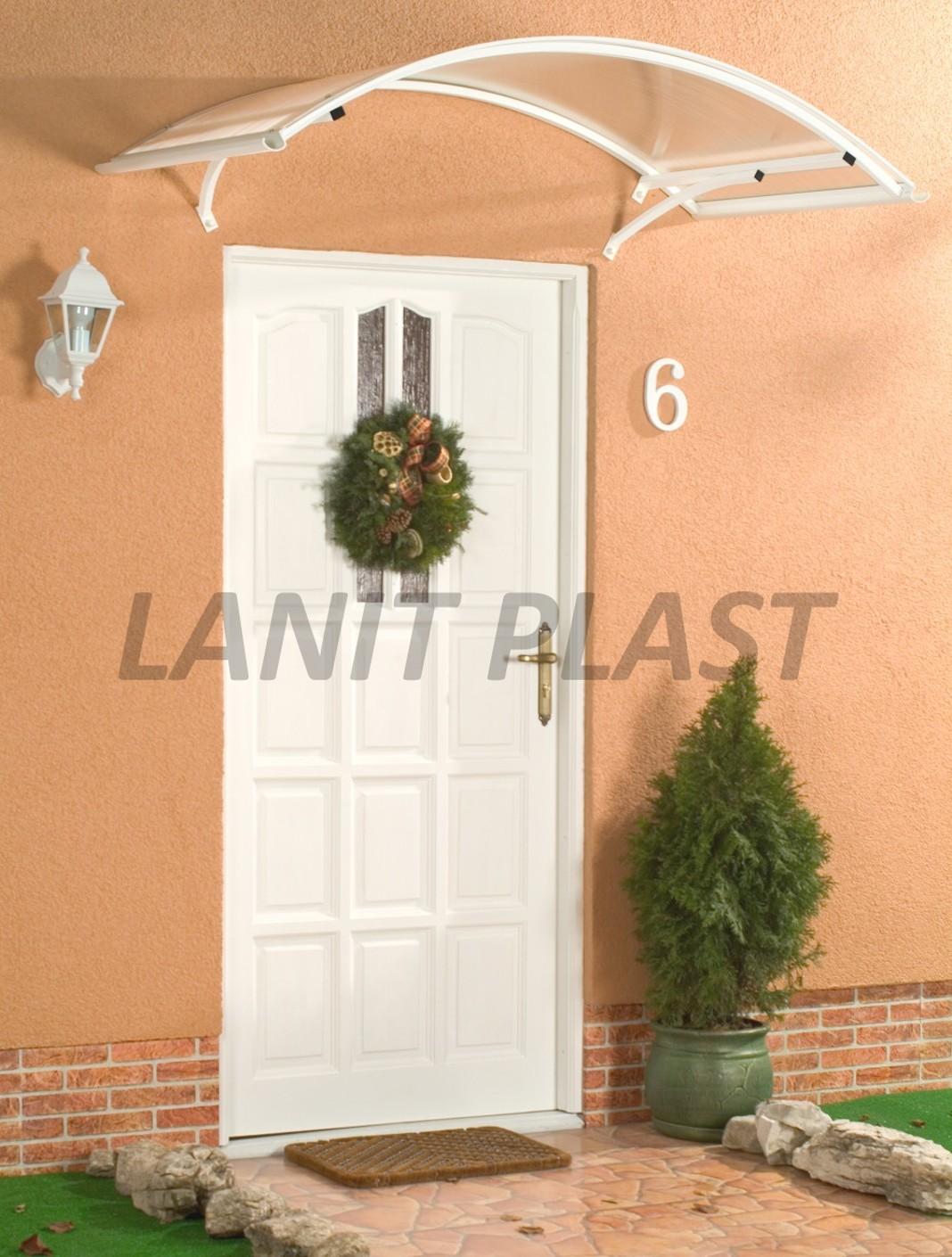 Vchodová stříška ARCO 160 bílá LANITPLAST