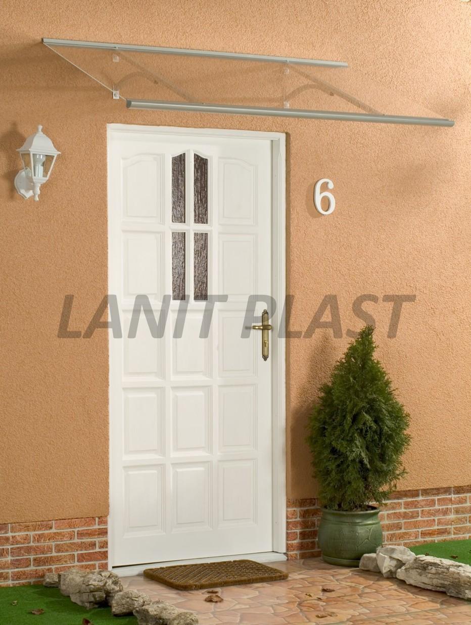 Vchodová stříška OTIS 120 stříbrná LANITPLAST