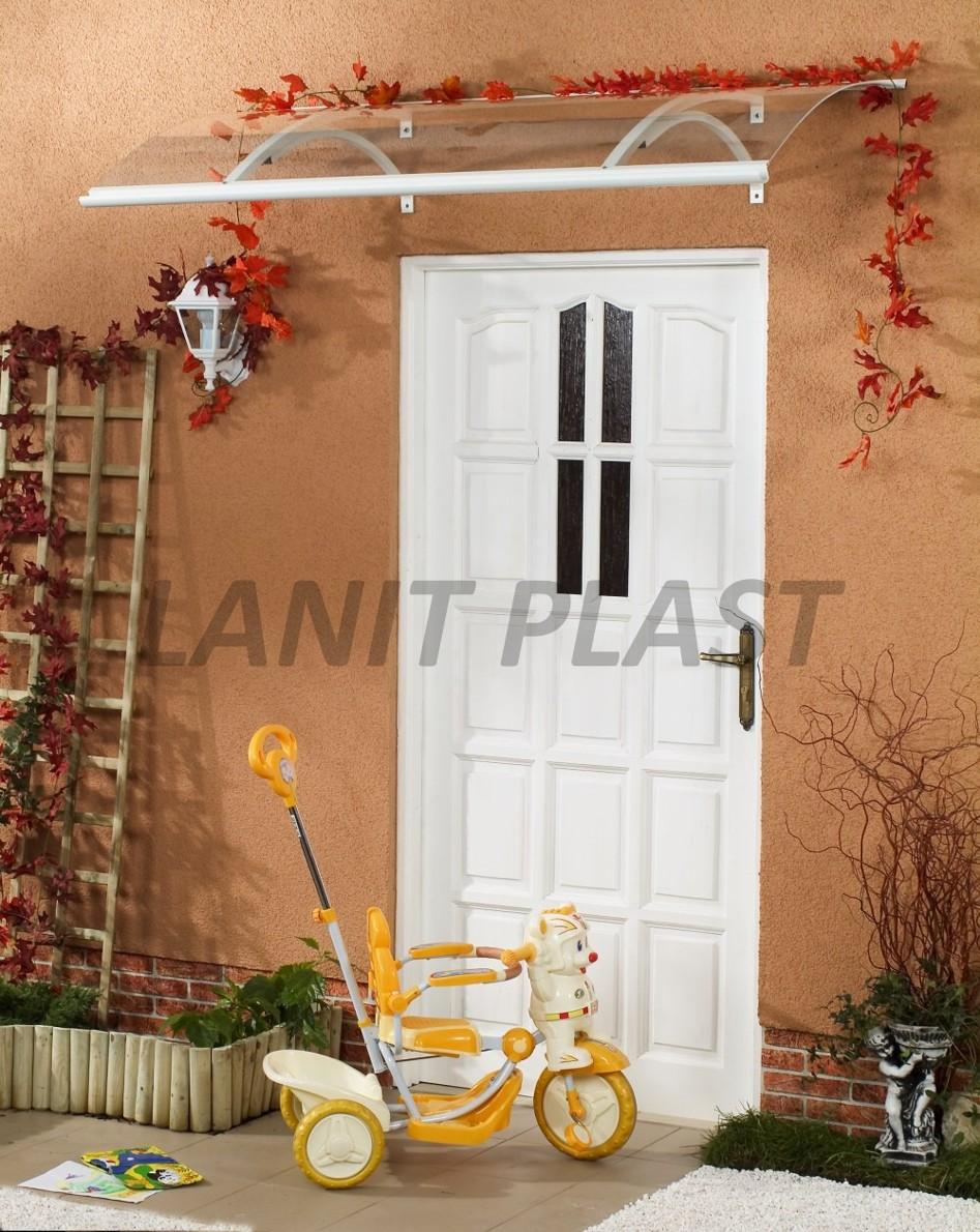 Vchodová stříška OLOR 160 bílá LANITPLAST