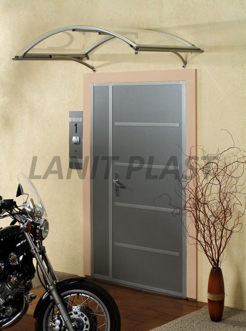 Vchodová stříška LEO 160 stříbrná LANITPLAST