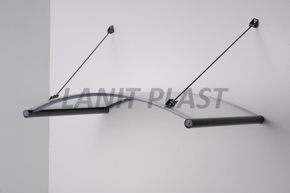 Vchodová stříška AGAT 150 ocelově šedá LANITPLAST
