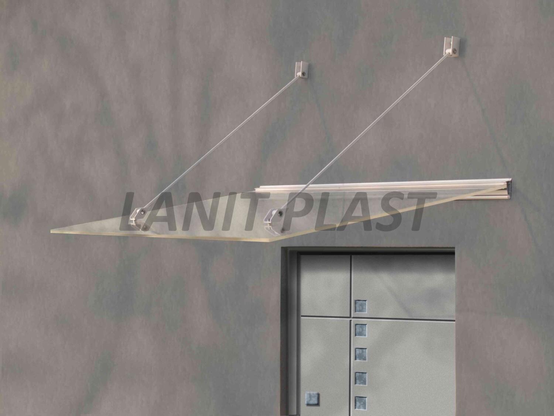 Vchodová stříška LAZUR 150 bílá LANITPLAST