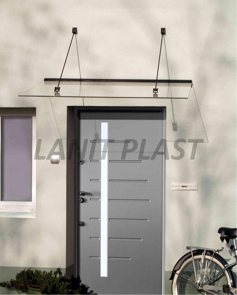 Vchodová stříška LAZUR 150 černá LANITPLAST