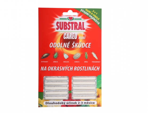 Insekticid SUBSTRAL CAREO hnojivé tyčinky proti škůdcům 10ks