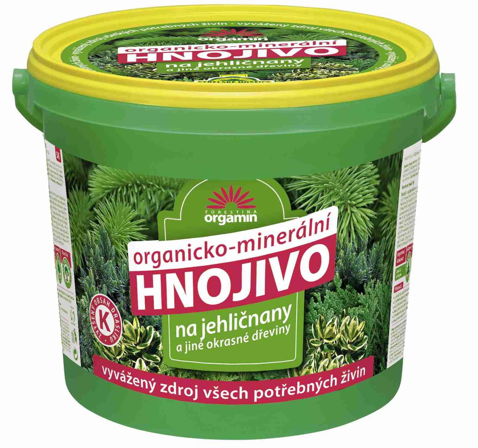 Hnojivo pro jehličnany a jiné okrasné dřeviny - kbelík 5 kg Forestina