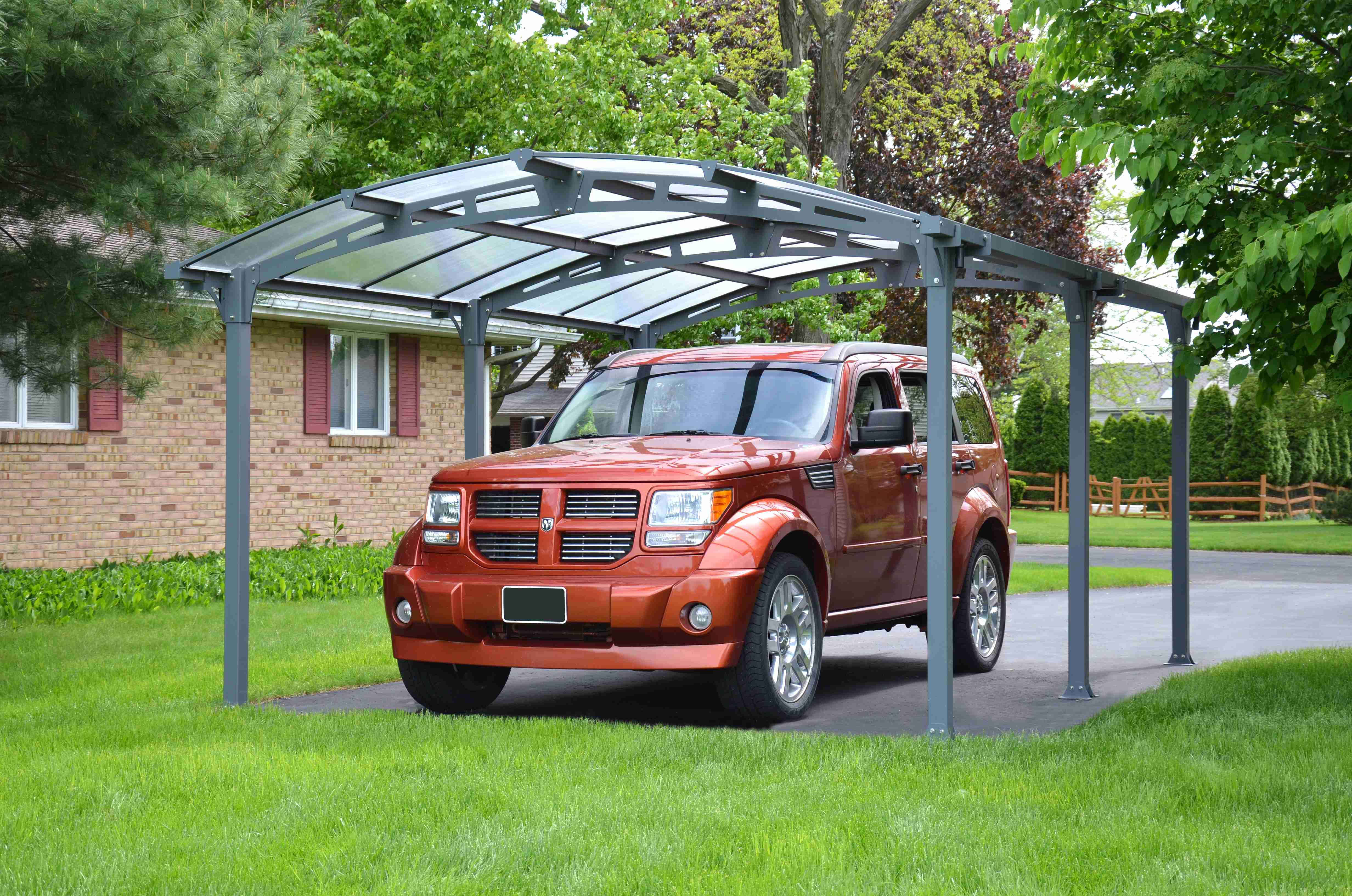 Hliníkový (montovaný) přístřešek s obloukovou střechou Palram Arcadia 5000