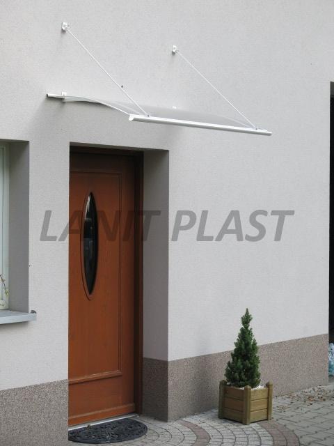 Vchodová stříška TURKUS140 bílá LANITPLAST