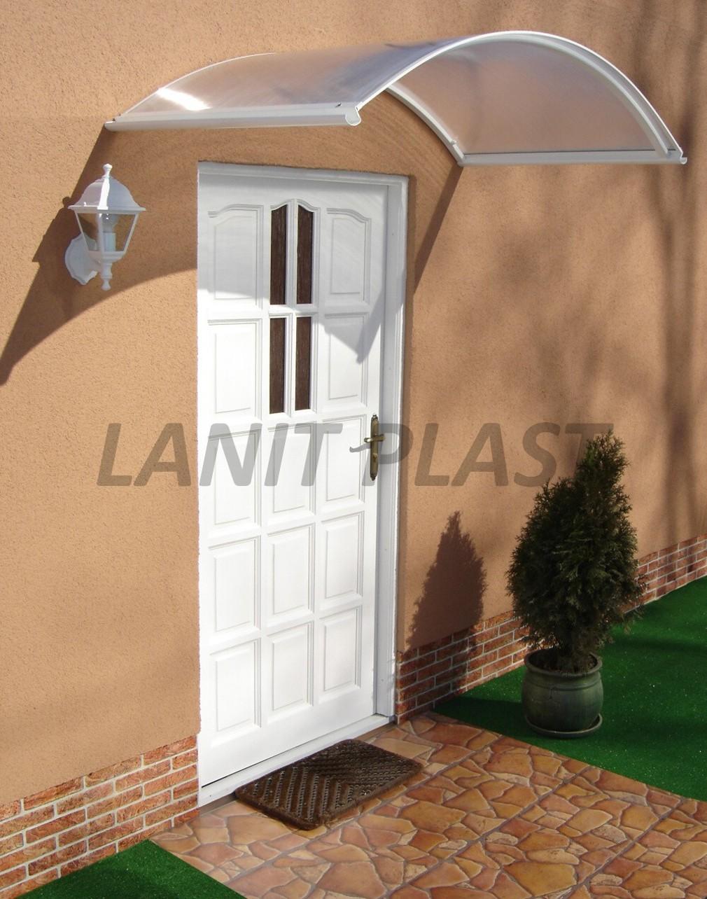 Vchodová stříška TOPAZ 130 bílá LANITPLAST