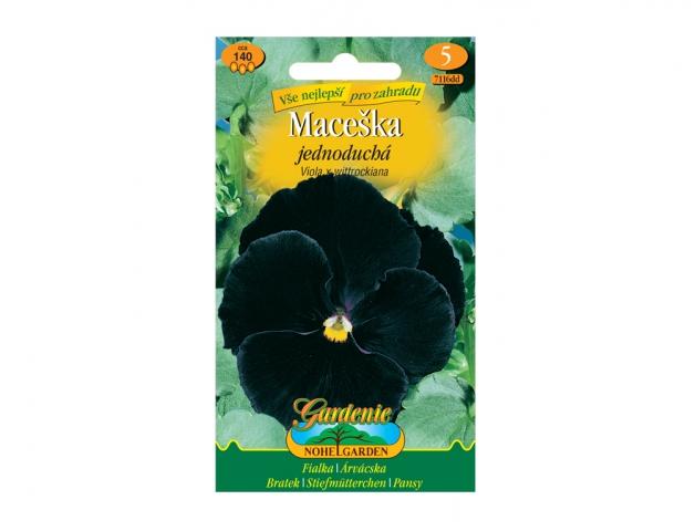 Maceška zahradní jednoduchá, černá bez oka NG GARDENIA