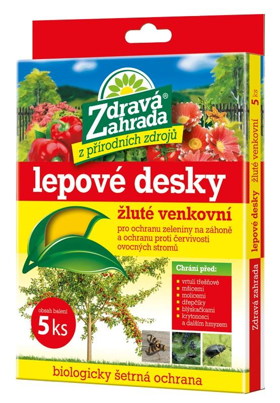 Zdravá zahrada žluté lepové desky do exteriéru FORESTINA
