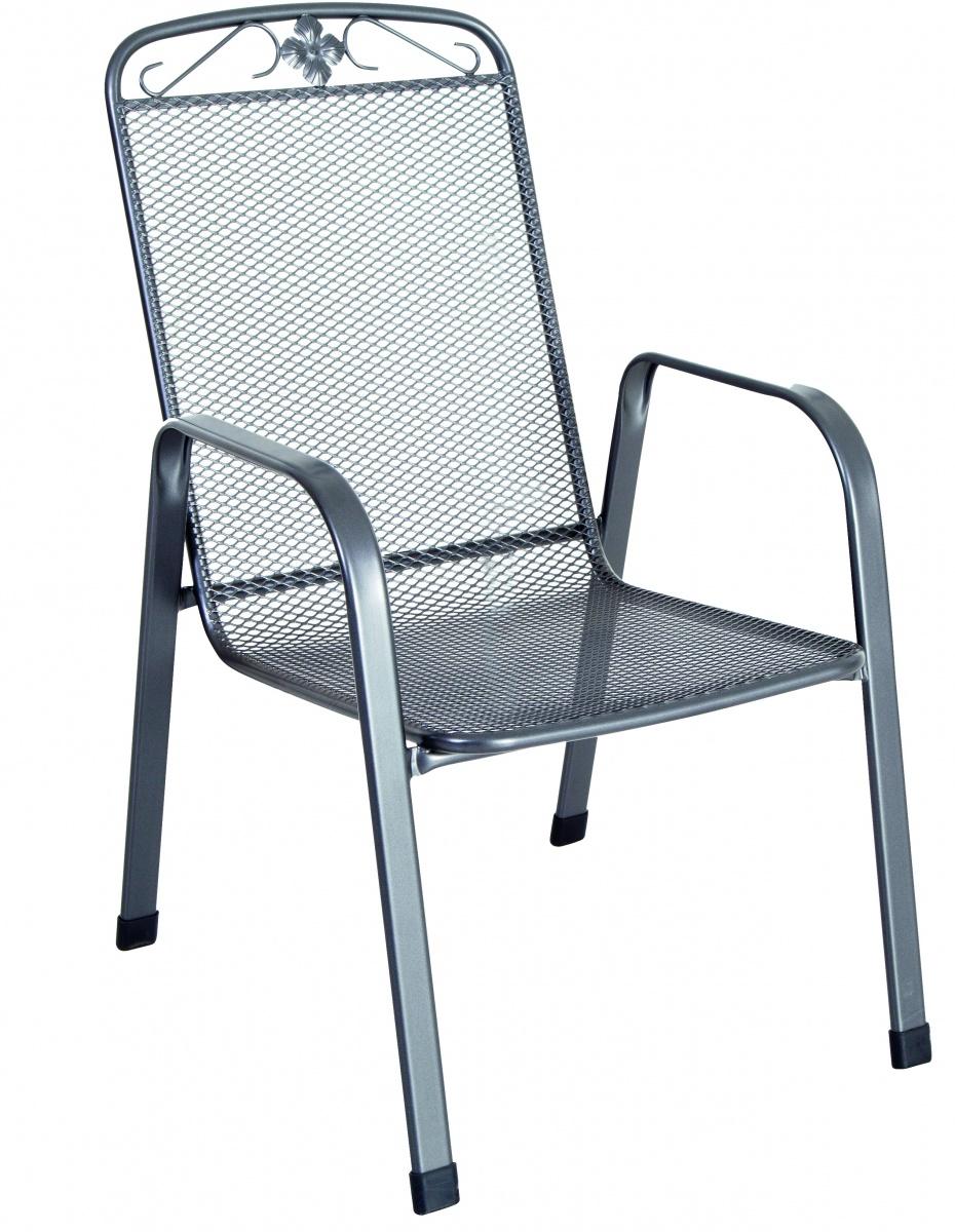 Stohovatelná židle z tahokovu, tmavě šedá Yotrio-MWH Savoy