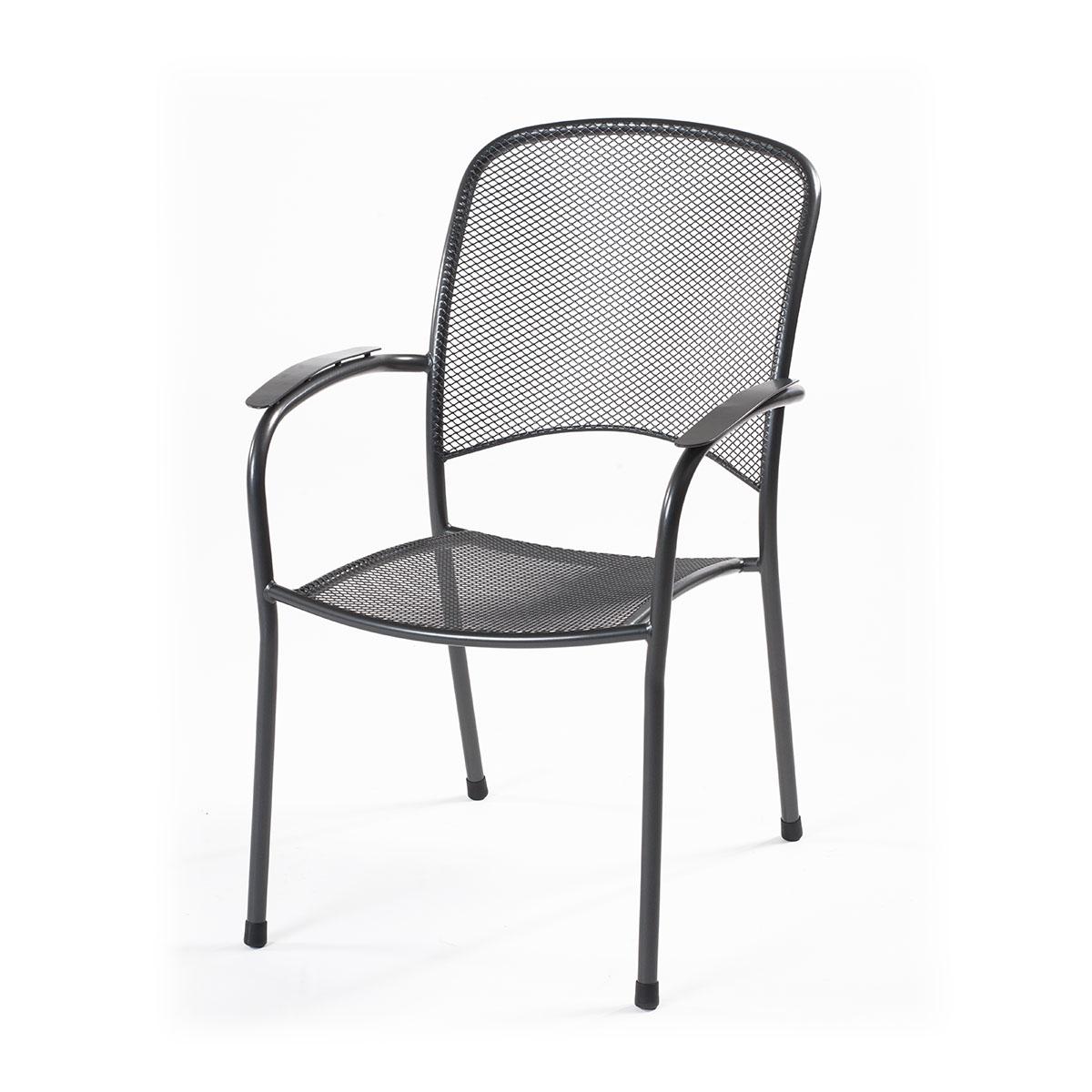 Designová stohovatelná židle z tahokovu, tmavě šedá Yotrio-MWH Carlo