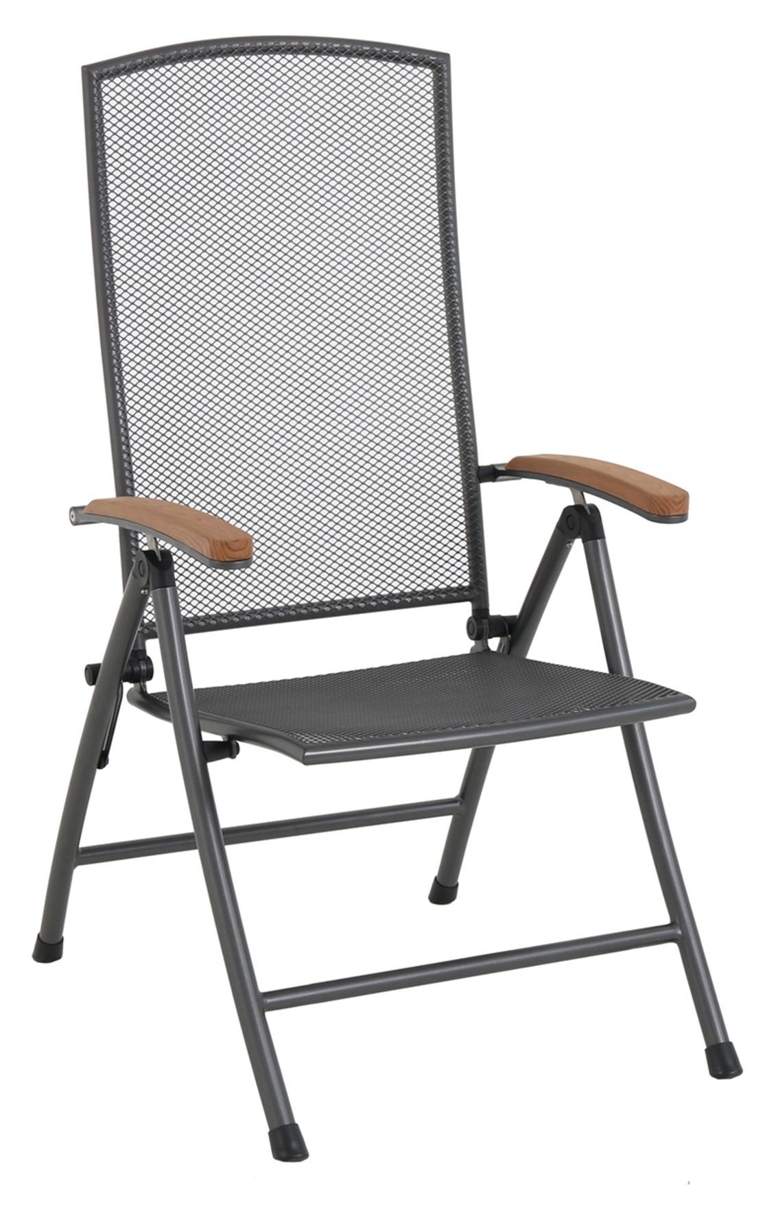 Polohovatelná židle z tahokovu 70 x 59 x 109 cm MWH Masao GARLAND