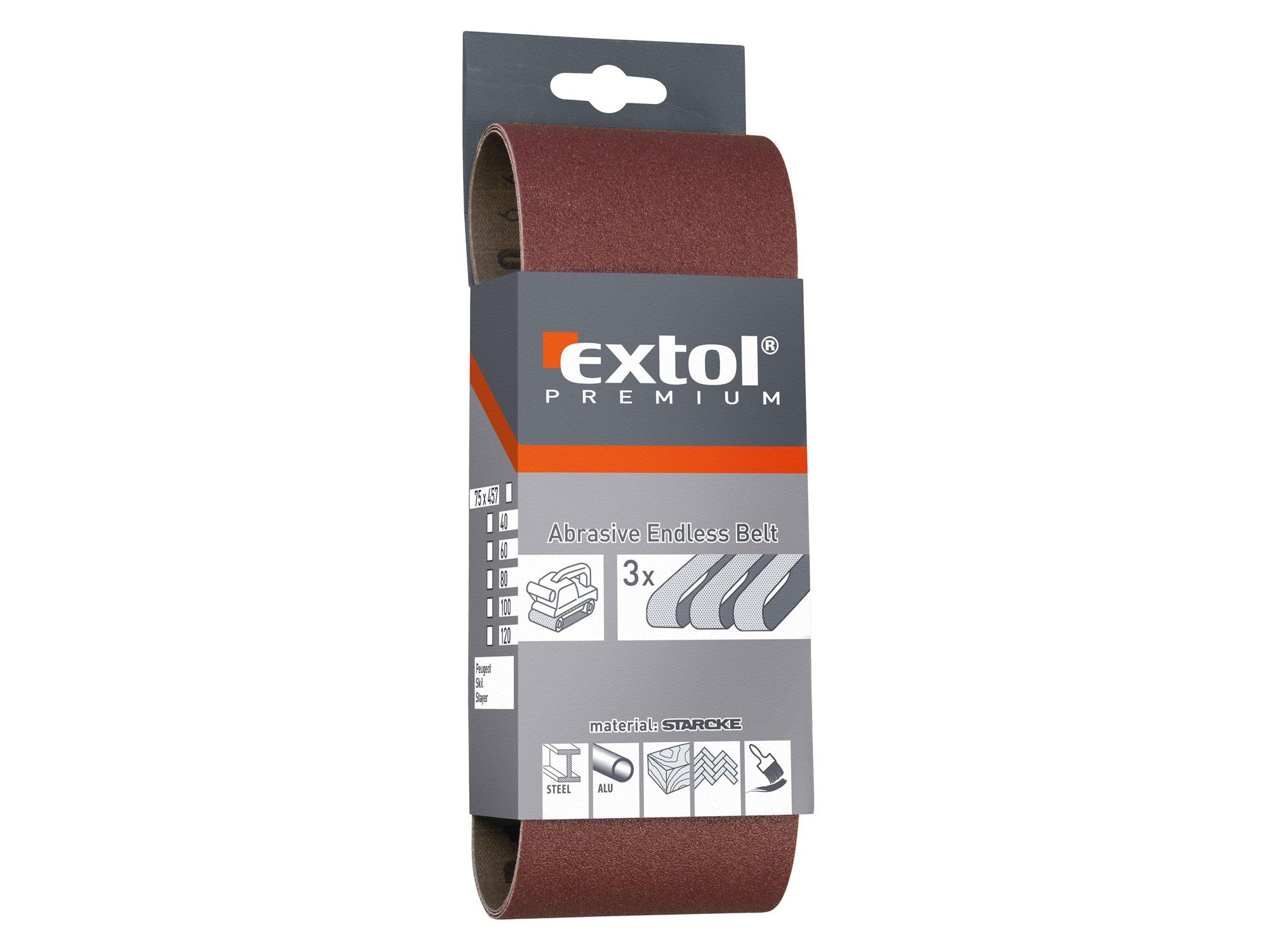 Plátna brusná nekonečný pás, 75x533mm, P40 (1ks) EXTOL PREMIUM 8803524