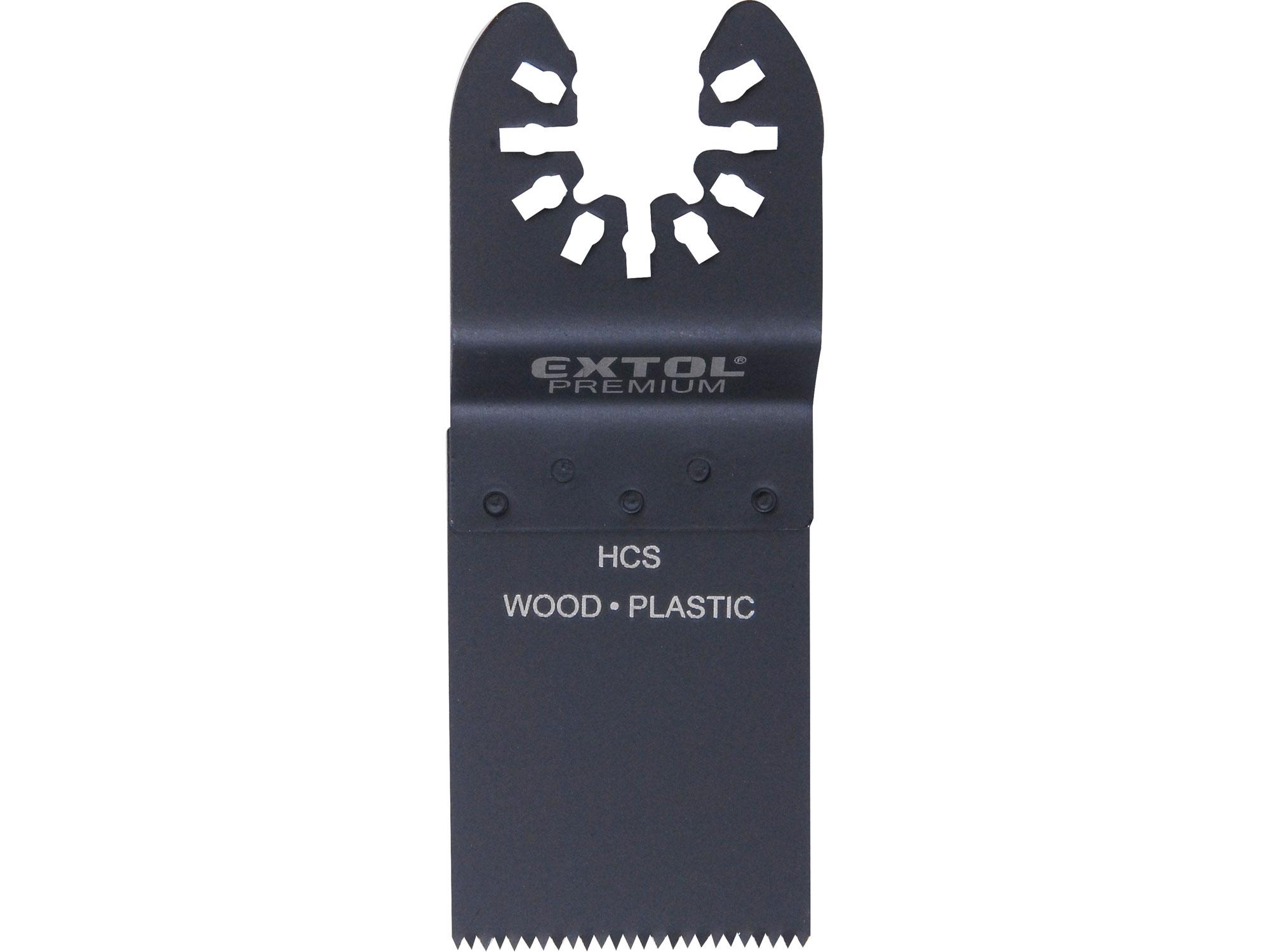 Listy pilové zanořovací na dřevo 2ks, 34mm, HCS EXTOL PREMIUM 8803852