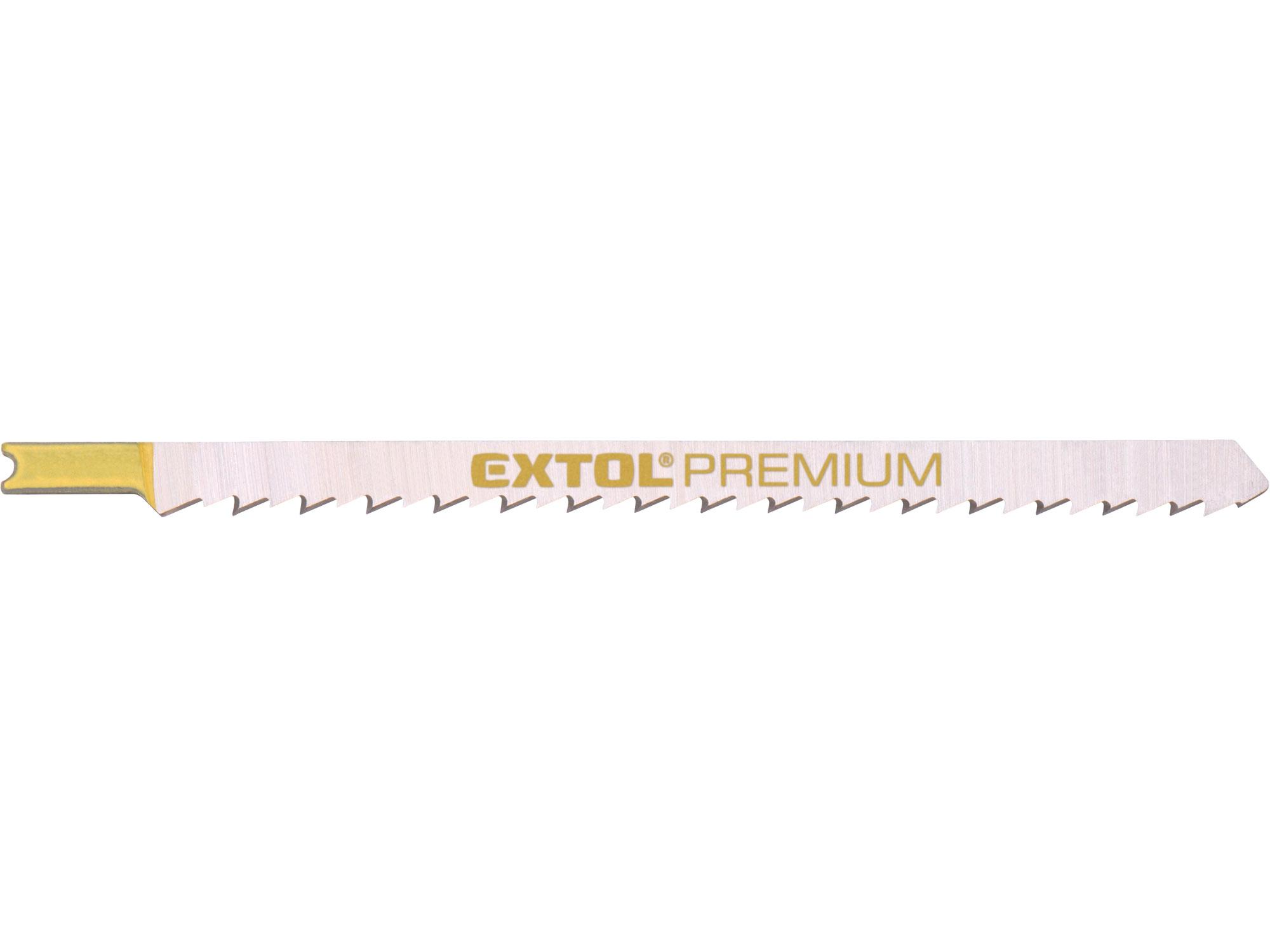 Plátky do přímočaré pily 5ks, 126x4,0mm, HCS EXTOL PREMIUM 8805512