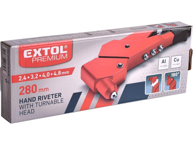 Kleště nýtovací s otočnou hlavou 280mm, EXTOL PREMIUM 8813731