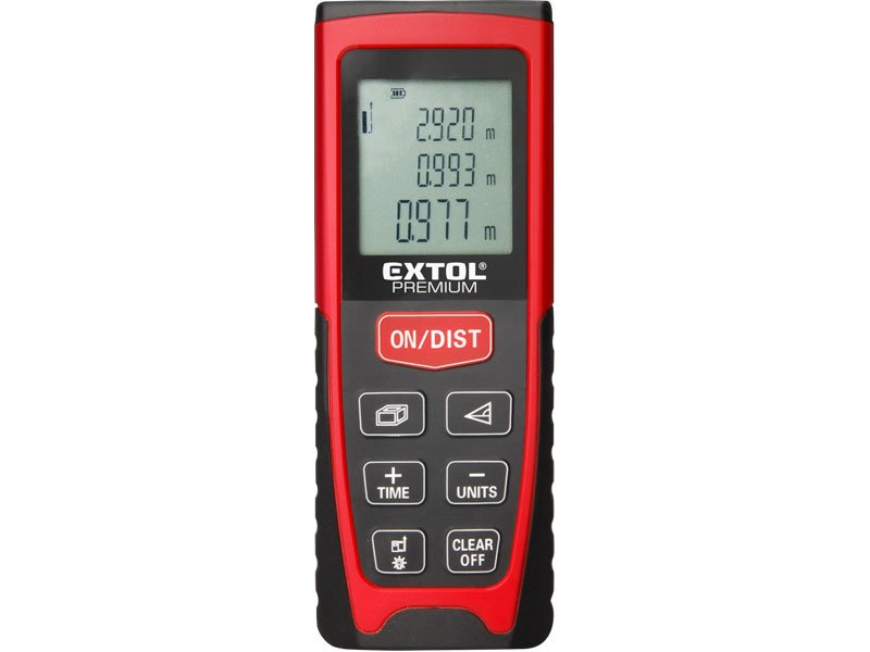 Metr laserový digitální 40m EXTOL Premium 8820041