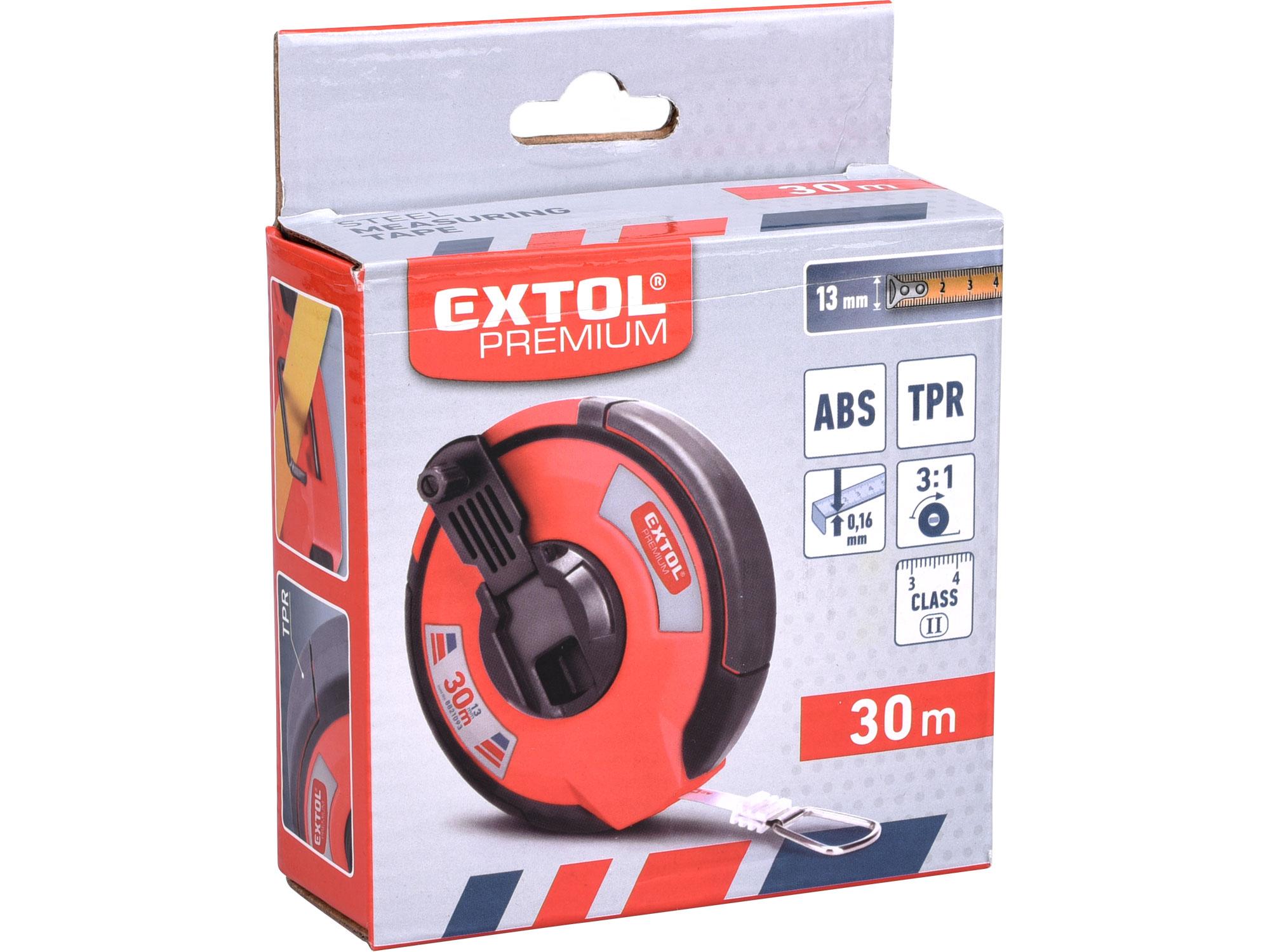 Pásmo ocelové, 30m,š. pásku 13mm EXTOL PREMIUM 8821093